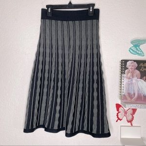 Mossimo Supply Co.:  Gray/Black pull on skirt